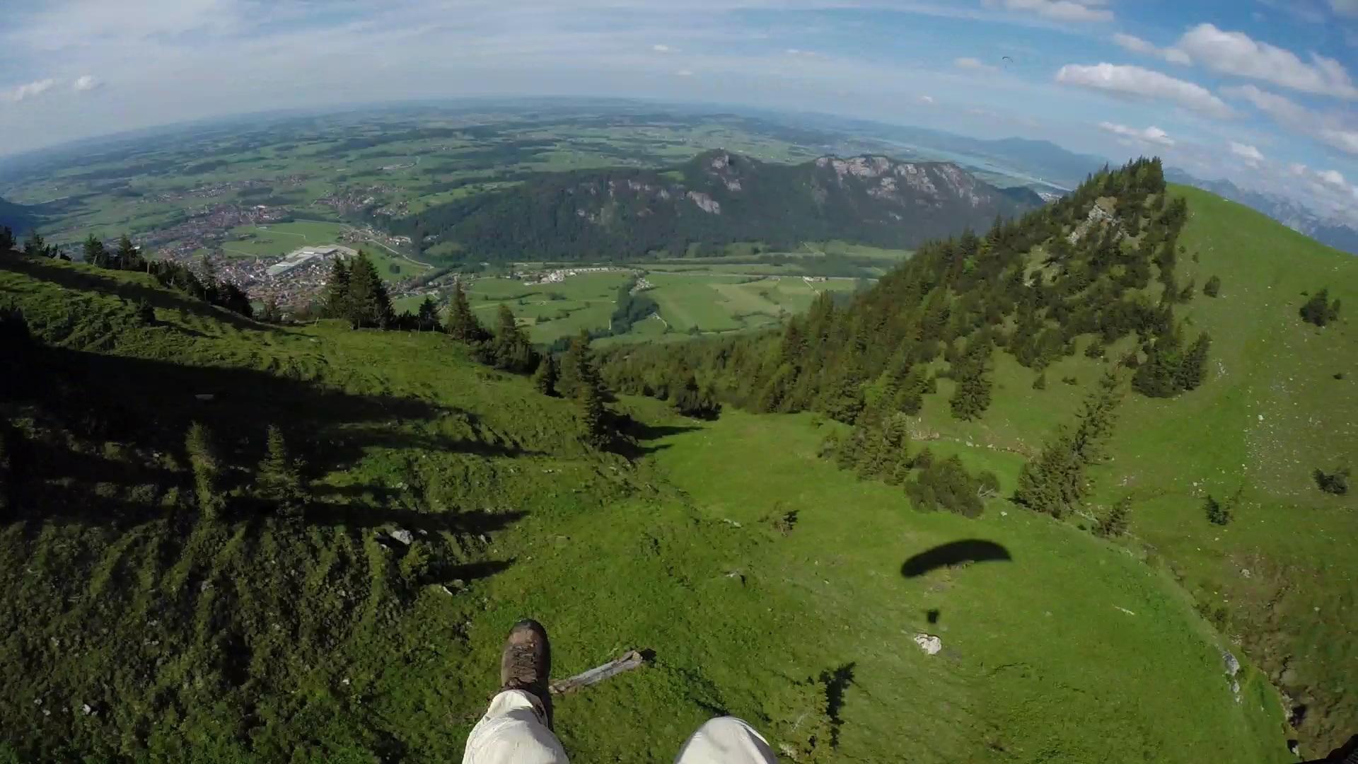Paragliding at Breitenberg