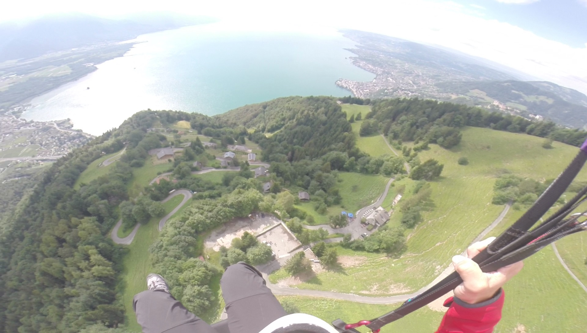 Paragliding at Sonchaux